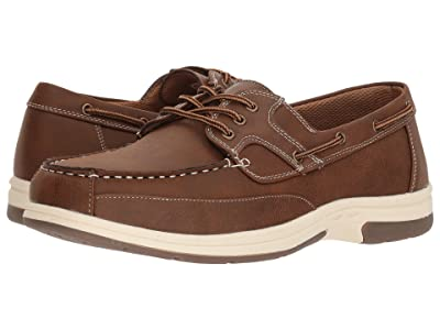 Deer Stags Mitch Boat Shoe (Dark Tan Simulated Oiled Leather) Men