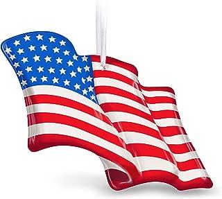 Hallmark Keepsake Christmas Ornament 2019 Wave Proudly American Flag, Glass
