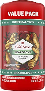 Old Spice Wild Collection Invisible Solid Antiperspirant and Deodorant, Bearglove, 2.6 Oz, 2 count