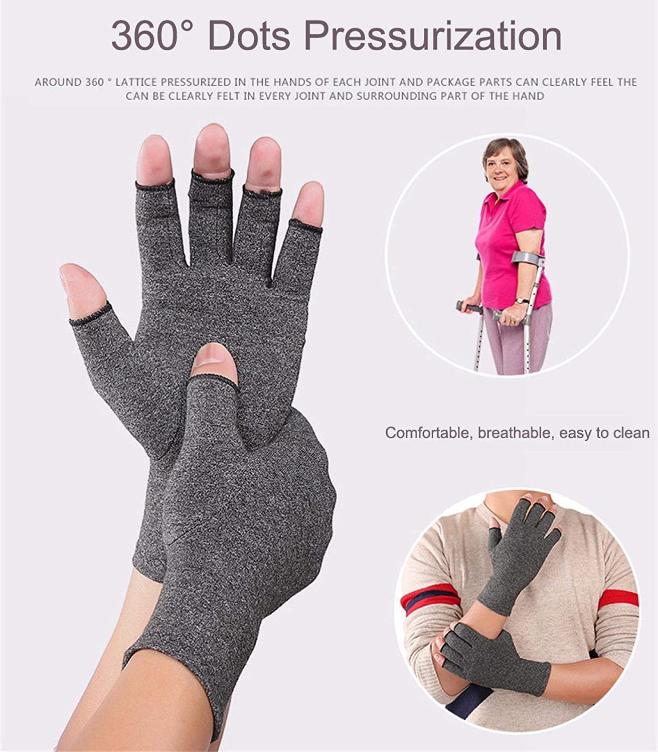 Men ZGHYBD 1pairs Arthritis Gloves S Women Rheumatoid Compression Hand Glove Compression Gloves Support and Warmth For Hands,For Typing and Daily Work