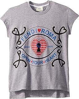 Short Sleeve Heart Lock Graphic T-Shirt (Little Kids)