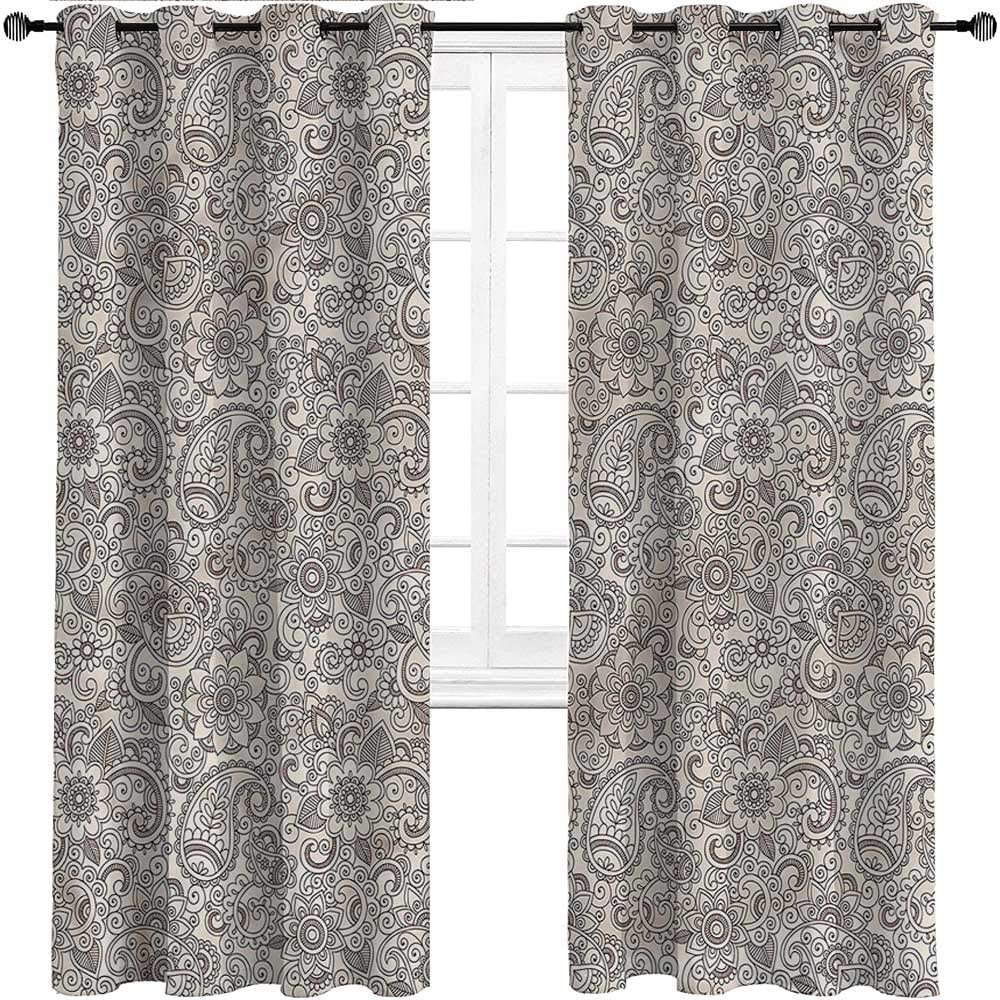 Interestlee Patio Curtains Paisley Energy The Max 72% OFF free shipping Room Saving Cool