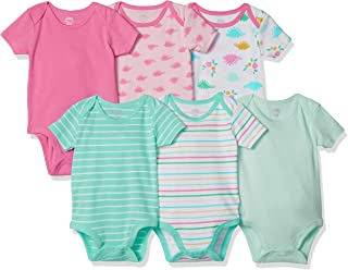 Amazon Essentials 6-Pack Short-Sleeve Bodysuit Bébé Fille