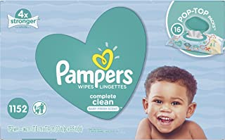 Baby Wipes, Pampers Complete Clean SCENTED 16X Pop-Top, Hypoallergenic and Dermatologist-Tested, 1152 Count (Old Version)