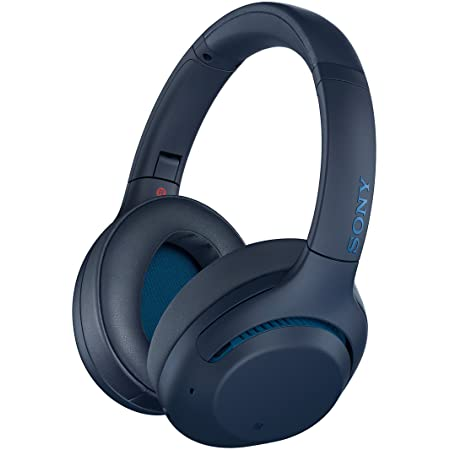 Sony WHXB900N Noise Cancelling Headphones, Wireless Bluetooth Over the Ear Headset - Blue (Amazon Exclusive)