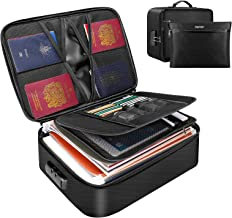 ENGPOW File Organizer Bags,Fireproof Document Bag with Money Bag,Home Office Travel Safe Bag with Lock,Multi-Layer Portabl...
