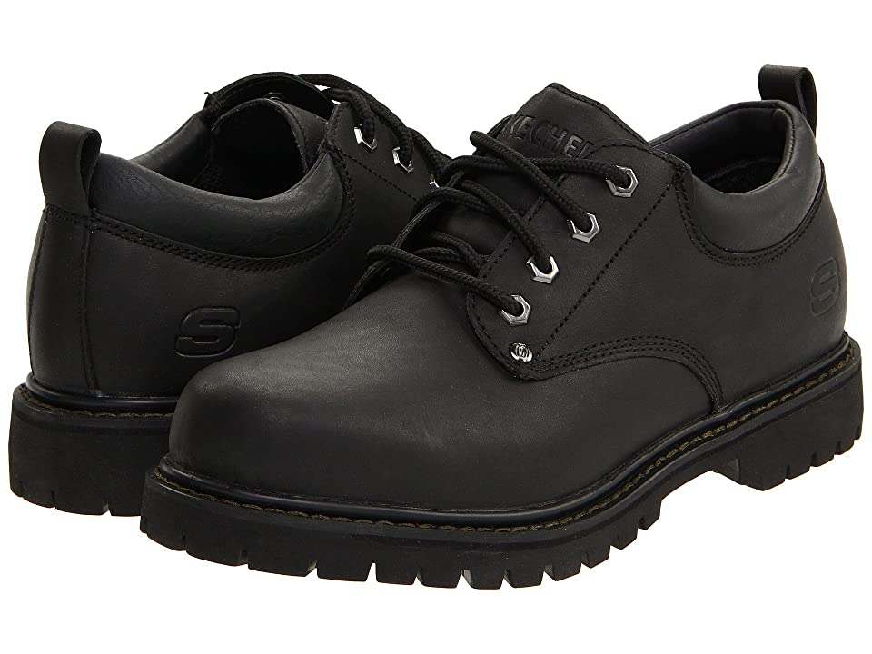 Image of SKECHERS Tom Cats (Black) Men's Lace up casual Shoes