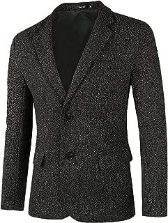 Men Classic Blazer Casual Tailored Fit Notch Lapel Two Button Sport Coat
