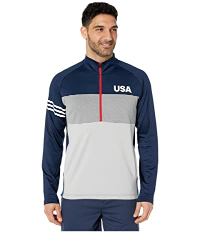 adidas Golf USA Golf Competition Sweater (Collegiate Navy) Men