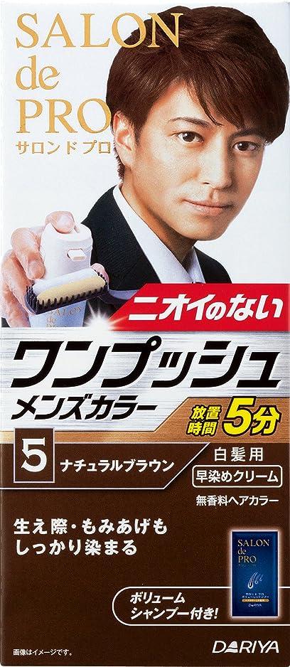 鍔劇的鋼サロン ド プロ ワンプッシュメンズカラー (白髪用) 5 <ナチュラルブラウン>