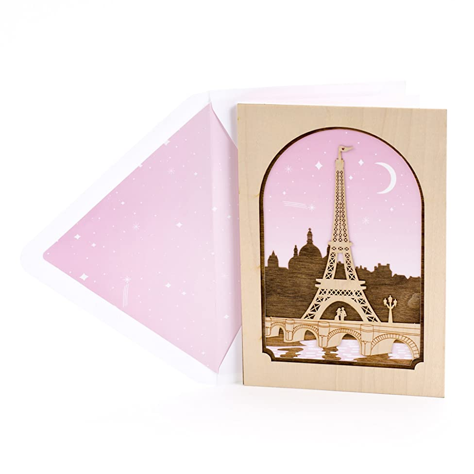 Hallmark Signature Valentine's Day Card for Significant Other (Laser-cut Wood Eiffel Tower)