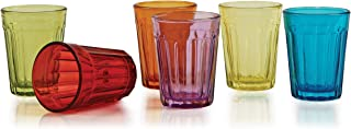 Circleware 42719 Skyline Whiskey Shot Glasses, Set of 6, Fun Heavy Base Home and Kitchen Entertainment Beverage Drinking Glassware for Liquor and Bar Barrel Dining Décor Cups, 2 oz