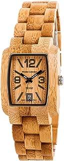 Tense Bamboo Mens Wood Watch Day Time Jumbo J8102B LFLN