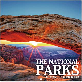 2021-2022 Calendar - National Parks, 2021-2022 Monthly Square Wall Calendar with Thick Paper, January 2021 - June 2022, 1...