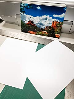 """8.5"""" X 11"""" Smooth Fine Art Museum Natural White Double Sided Inkjet Paper - 50 Sheets photo"""