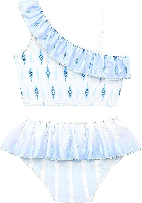 Rauoawby Girls' Ranking TOP20 One Genuine Shoulder Swimsuit Bikini S Ruffle Pieces Two