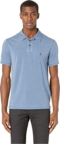 Anton Short Sleeve Burnout Polo with Peace Sign K4153V1B