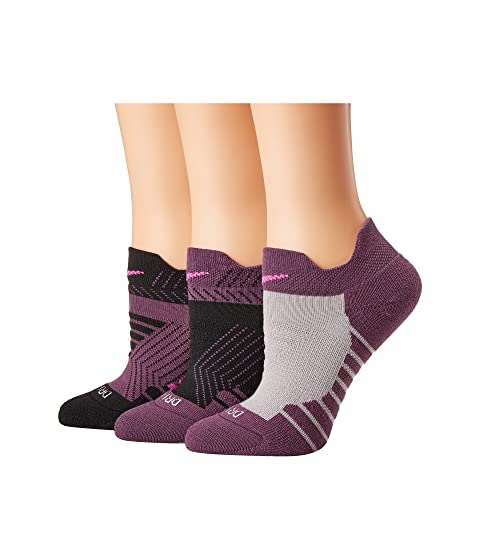 Dry Cushioned Mesh Low Training Socks 3-Pair Pack, Multicolor 3