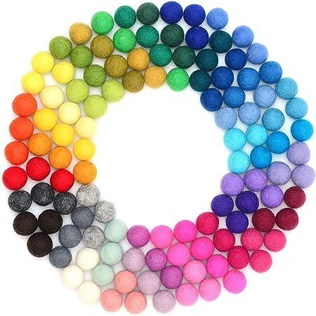 DEDC 120pcs Bolas de Peluche Mullidas para Bricolaje, Manualidades y Decoraciones, Coloridos Pompones Balls