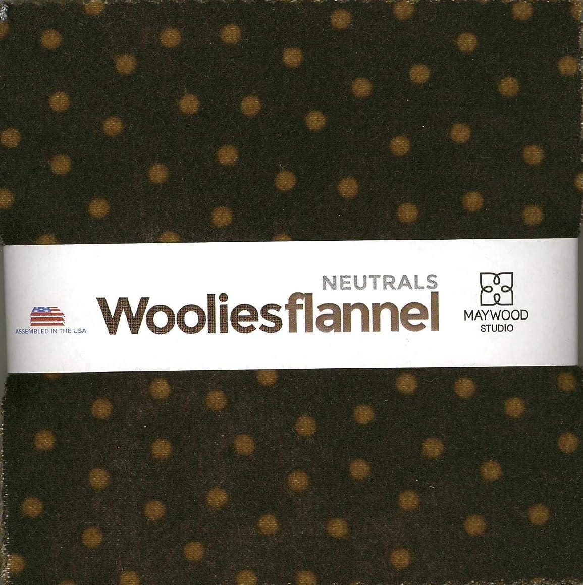 Bonnie Sullivan Woolies Flannel Neutrals Charm Pack 42 5-inch Squares Maywood Studio