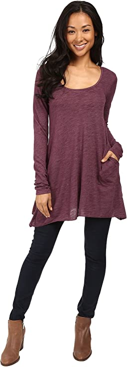 Allen Allen - L/S Angled 2-Pocket Scoop Tunic