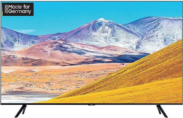 Smart tv 82 pollici samsung wi-fi nero gu82tu8079uxzg, 2,08 m 3840 x 2160 pixel, led, wi-fi, nero