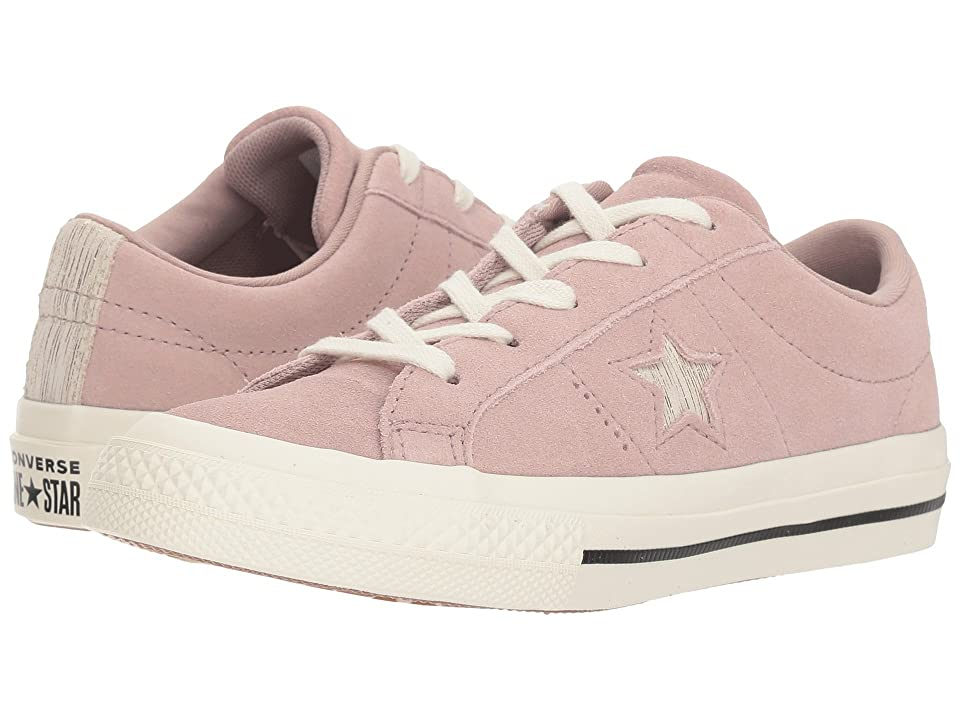 Converse Kids One Star Ox (Little Kid) (Diffused Taupe/Gold/Egret) Girls Shoes