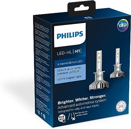 Philips 11258XUX2 X-tremeUltinon LED faros delanteros (H1), 6.500K, Set