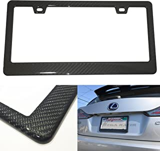 Mega Racer (1Pc JDM Style 100% Real Carbon Fiber License Plate Frame Holder Twill Weave Cover Front or Rear Auto Car US