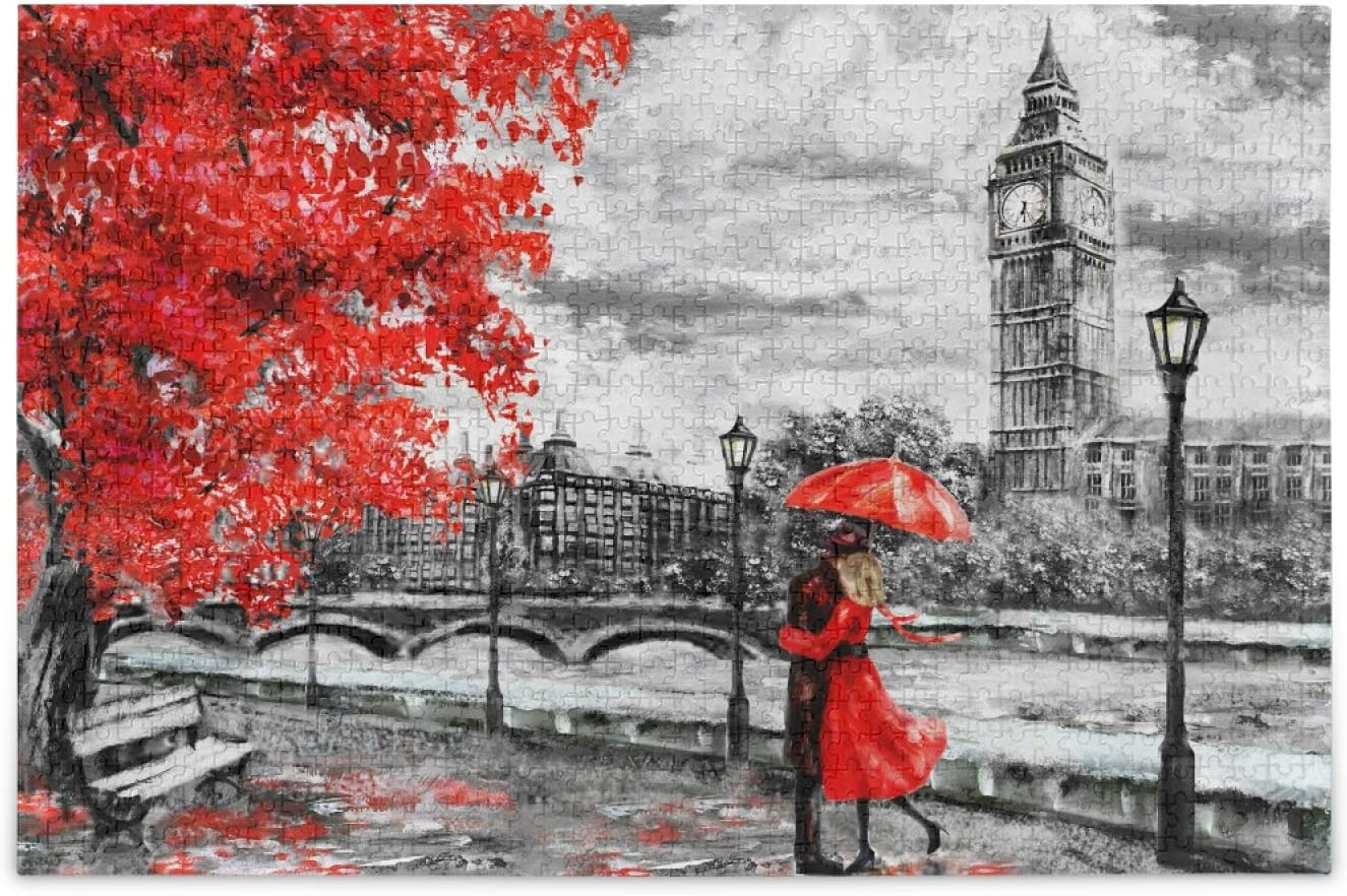 London Street Lovers Jigsaw Puzzle Ben Valentine Superior 1000 Big 2021new shipping free Pieces