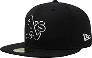 New Era 59Fifty Hat MLB Oakland Athletics Black Fitted Headwear Cap