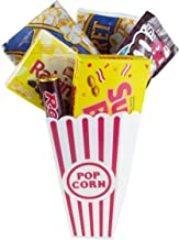 Movie Night Popcorn and Candy Gift Basket ~ Includes Movie Theater Butter Popcorn and Concession Stand Candy (Sugar Babies-Chocolate Lovers)
