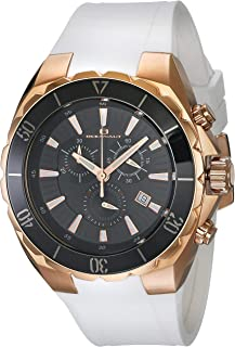 ساعة أوشينت سيفيل بسوار من السيليكون ستانلس ستيل كواترز للرجال - ابيض، 21 كاجوال (OC5122W)