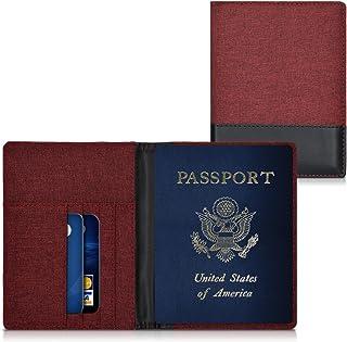 Prot/ège Cuir Grain/é Bleu Marine Etui Porte Passeport Fran/çais en cuir Lucrin Housse