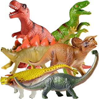 TEPSMIGO Jumbo Dinosaur Toys, 6PCS Big Dinosaur Set, Huge Soft Realistic Dinosaur Figures, Including Jurassic T-Rex Veloci...
