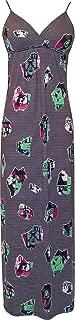 Retro Pop Art Photo Print Sundress Maxi Dress