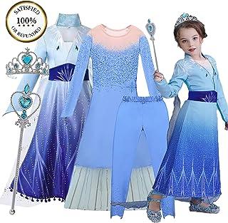 O³ Elsa Princesa Vestido - Disfraz de Princesa Elsa - 110-1