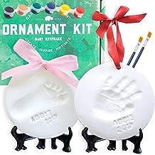 Baby Ornament Keepsake Kit (NEWBORN BUNDLE) 2 EASELS, 4 RIBBONS & LETTERS! Baby..