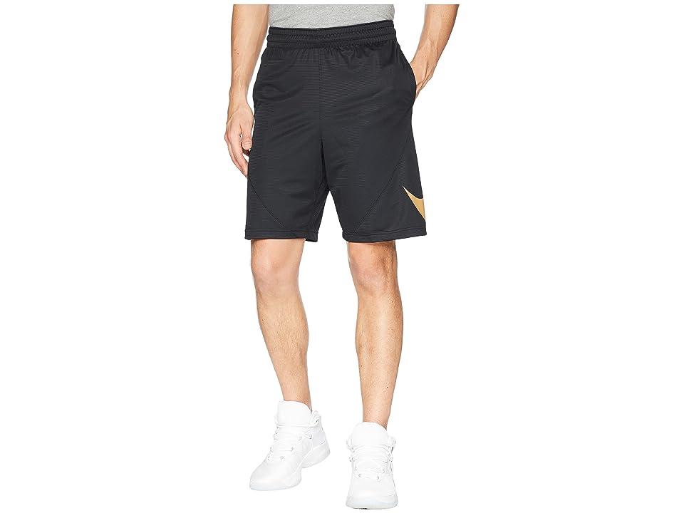 Nike Dry 9 Basketball Short (Black/Black/Elemental Gold) Men