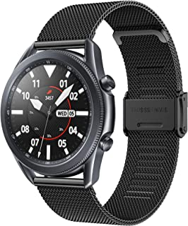 Junboer Band Compatible with Samsung Galaxy Watch 46mm Strap, Quick Release 22mm Stainless Steel Mesh Replacement Wristban...