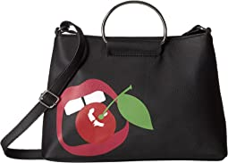 Cherry Lips Ring Handle Crossbody