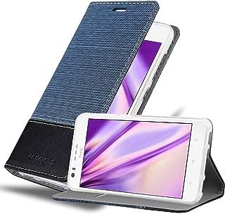 Cadorabo Book Case Works with HTC Desire 10 Lifestyle/Desire 825 Wallet Etui Cover DARK BLUE BLACK DE-113252