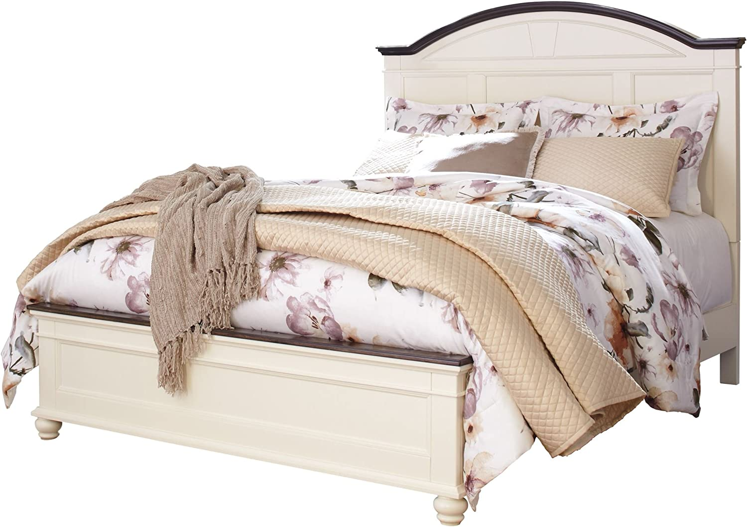 Signature Design by Ashley Woodanville Bed, White/Brown