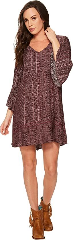 Roper - 1383 Grape Vine Print Rayon Dress