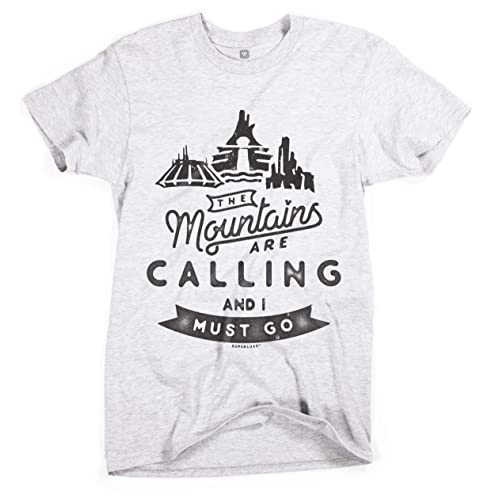 669555808e Superluxe Clothing Mens/Unisex Disney Mountains are Calling and I Must Go T- Shirt