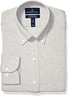Buttoned Down mens Slim-fit Supima Cotton Stretch Knit Dress Shirt