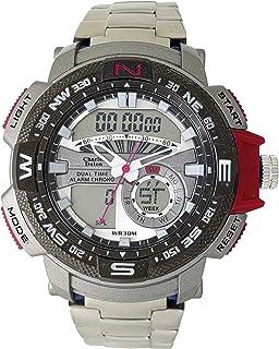 Charles Delon Mens Quartz Watch, Analog-Digital Display and Stainless Steel Strap 5778 GUSR