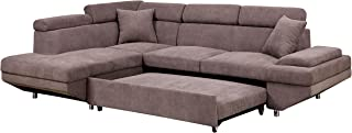 HOMES: Inside + Out Dentas Sectional with Pull Out Sleeper Chaise