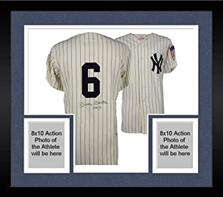 4e8cf9d01 Framed Mickey Mantle New York Yankees Autographed Vintage Cooperstown  Collection Jersey with No. 6 Inscription