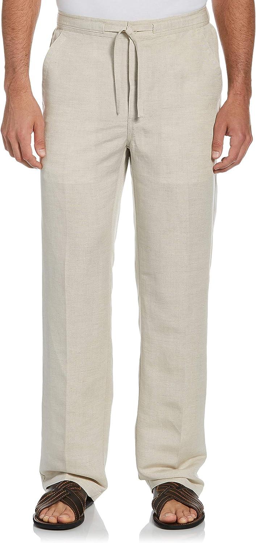 Cubavera Men's Drawstring Linen-Blend Pant with Back Elastic Waistband